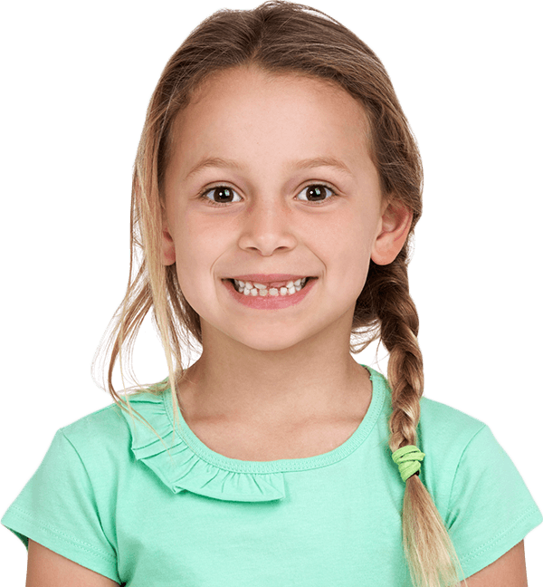 girl with braid in hair smiling